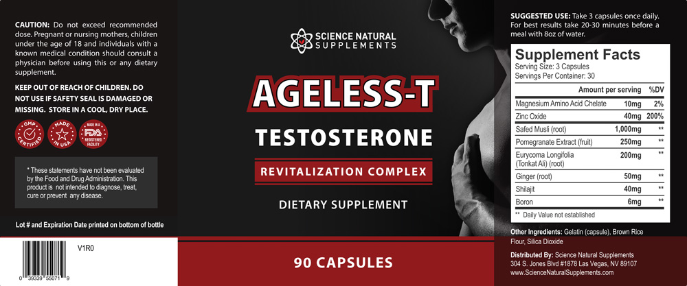 What are the Ageless-T Testosterone Boosting Ingredients?
