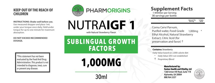 Nutra IGF 1 Ingredients